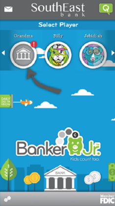 Banker Jr. account sync step one directions